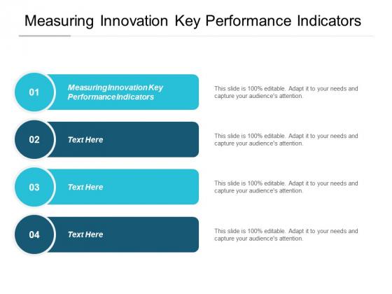 Measuring Innovation Key Performance Indicators Ppt PowerPoint Presentation Gallery Portfolio Cpb