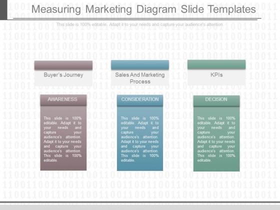 Measuring Marketing Diagram Slide Templates