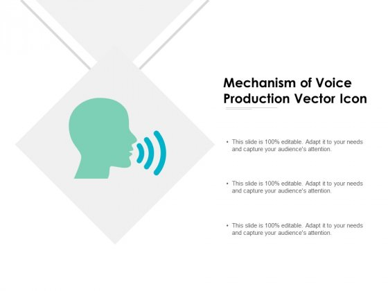 Mechanism Of Voice Production Vector Icon Ppt PowerPoint Presentation Portfolio Themes