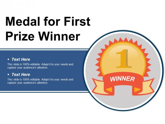 Medal For First Prize Winner Ppt PowerPoint Presentation Styles Styles