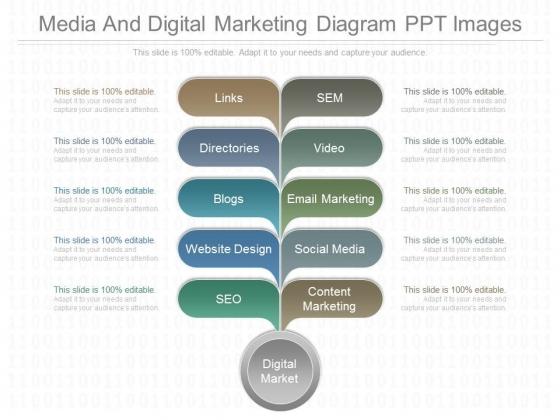 Media And Digital Marketing Diagram Ppt Images