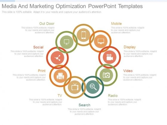 Media And Marketing Optimization Powerpoint Templates