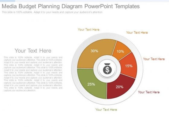 Media Budget Planning Diagram Powerpoint Templates