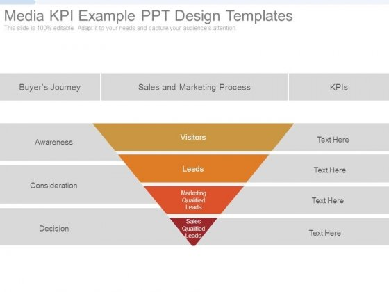 Media Kpi Example Ppt Design Templates - PowerPoint Templates