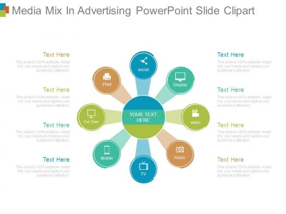 Media Mix In Advertising Powerpoint Slide Clipart