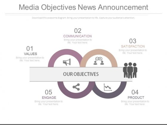 Media Objectives News Announcement Ppt Slides