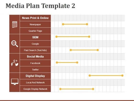 Media Plan Template 2 Ppt PowerPoint Presentation Show