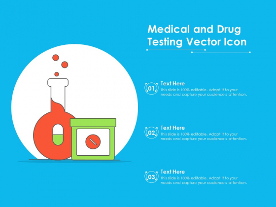 Medical And Drug Testing Vector Icon Ppt PowerPoint Presentation Model Inspiration PDF