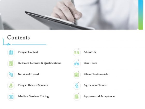 Medical And Healthcare Related Contents Ppt Outline Model PDF