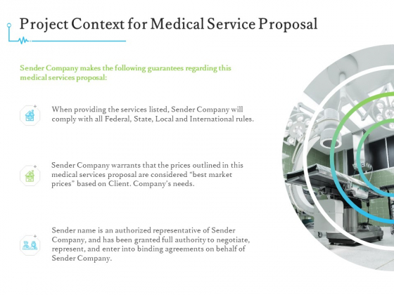 Medical And Healthcare Related Project Context For Medical Service Proposal Ppt Outline Background Image PDF