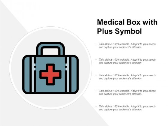 Medical Box With Plus Symbol Ppt Powerpoint Presentation Icon Slides