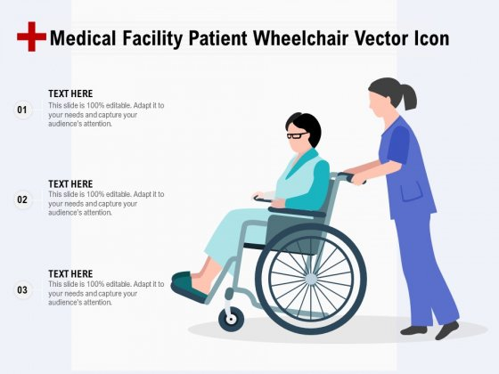 Medical Facility Patient Wheelchair Vector Icon Ppt PowerPoint Presentation Pictures Show PDF