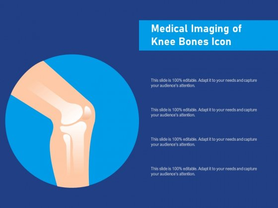 Medical Imaging Of Knee Bones Icon Ppt PowerPoint Presentation Icon Guide PDF