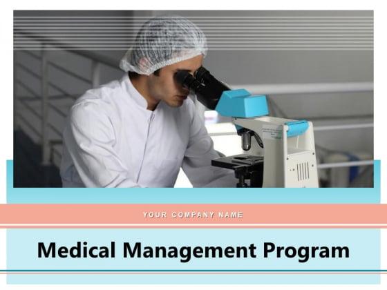 Medical Management Program Innovation Technology Big Data Ppt PowerPoint Presentation Complete Deck