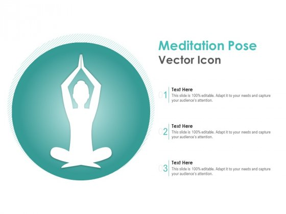 Meditation Pose Vector Icon Ppt PowerPoint Presentation Icon Example