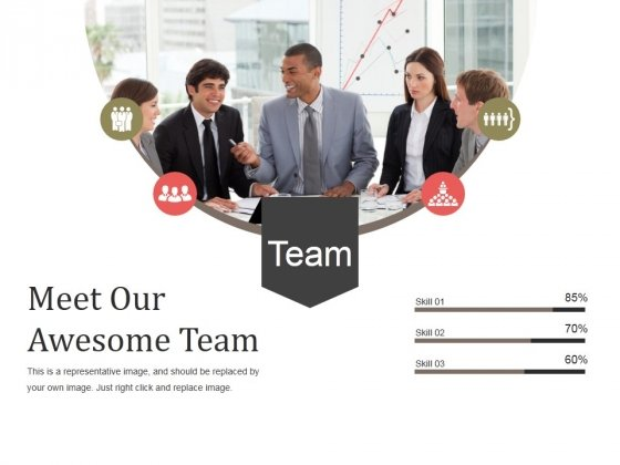 Meet Our Awesome Team Ppt PowerPoint Presentation Styles Graphics Design