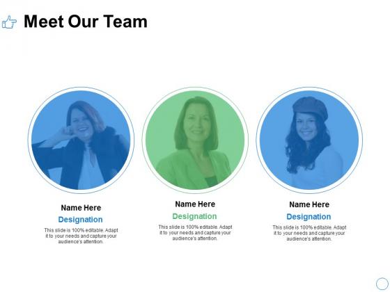 Meet Our Team Communication Ppt PowerPoint Presentation File Slide Portrait
