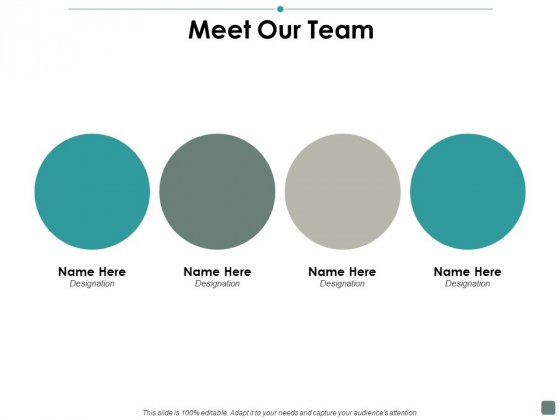 Meet Our Team Contribution Ppt PowerPoint Presentation Icon Designs Download