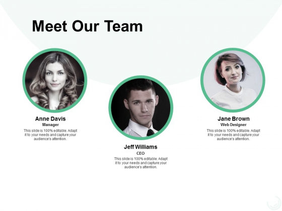 Meet Our Team Introduction Ppt PowerPoint Presentation