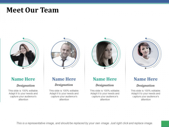 Meet Our Team Ppt PowerPoint Presentation Gallery Themes