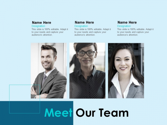 Meet Our Team Ppt PowerPoint Presentation Model Graphic Tips