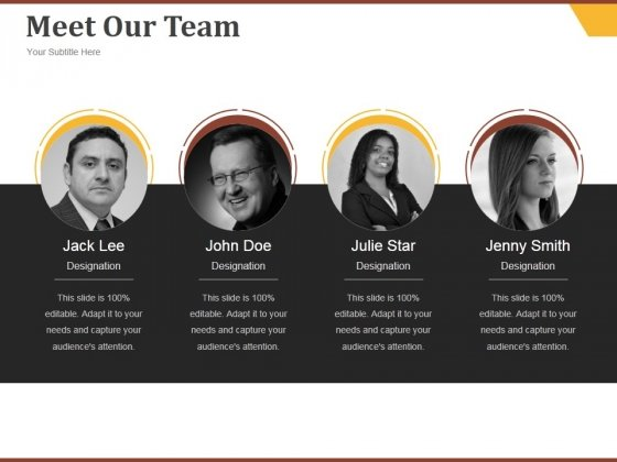Meet Our Team Ppt PowerPoint Presentation Model Pictures
