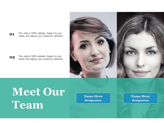 Meet Our Team Ppt PowerPoint Presentation Pictures Backgrounds