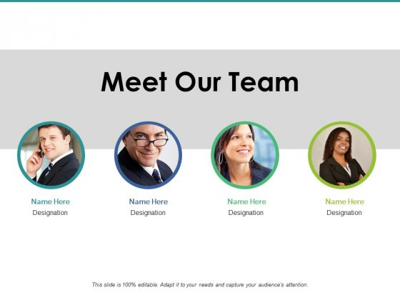 Meet Our Team Ppt PowerPoint Presentation Pictures Graphics Template