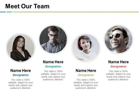 Meet Our Team Ppt PowerPoint Presentation Show Vector