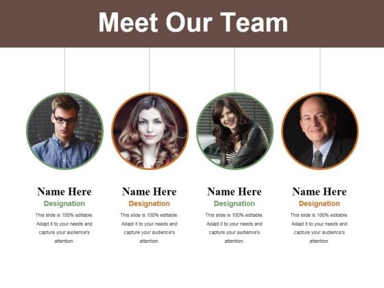 meet our team ppt powerpoint presentation summary design templates
