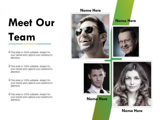 Meet Our Team Ppt PowerPoint Presentation Summary Good
