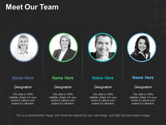 Meet Our Team Ppt PowerPoint Presentation Summary Information