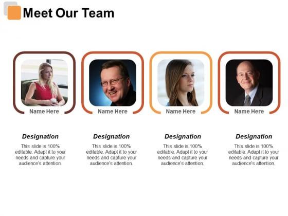 Meet Our Team Risk Estimator Ppt PowerPoint Presentation Slides Maker
