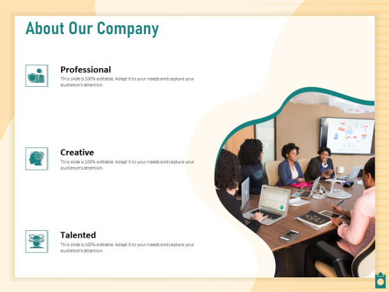 Meet Project Deadlines Through Priority Matrix About Our Company Ppt Gallery Samples PDF