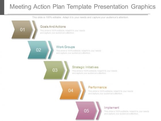 Meeting Action Plan Template Presentation Graphics