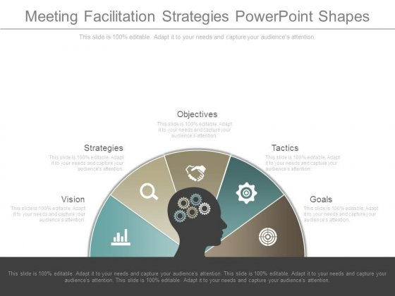 Meeting Facilitation Strategies Powerpoint Shapes