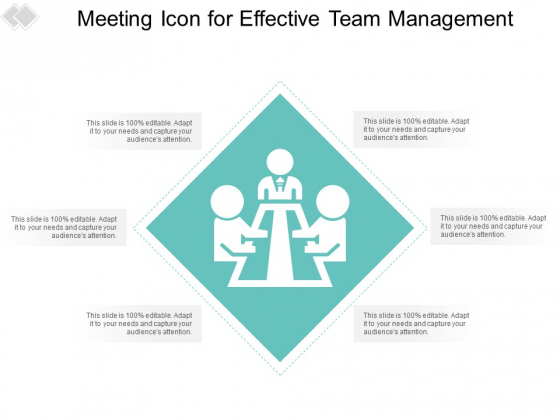 Meeting Icon For Effective Team Management Ppt PowerPoint Presentation Pictures Shapes