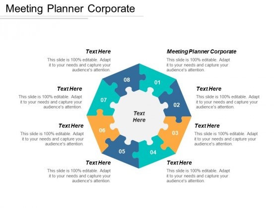 Meeting Planner Corporate Ppt PowerPoint Presentation Show Deck Cpb