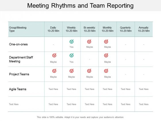 Meeting Rhythms And Team Reporting Ppt Powerpoint Presentation Styles Background