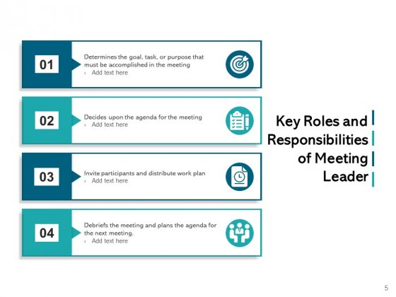 Meeting_Role_And_Responsibilities_Ppt_PowerPoint_Presentation_Complete_Deck_Slide_5
