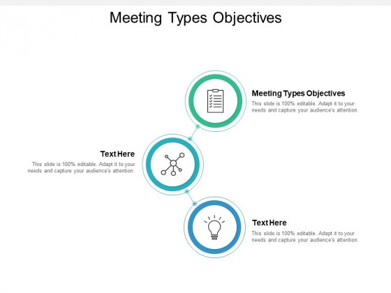 Meeting Types Objectives Ppt PowerPoint Presentation Layouts Topics Cpb