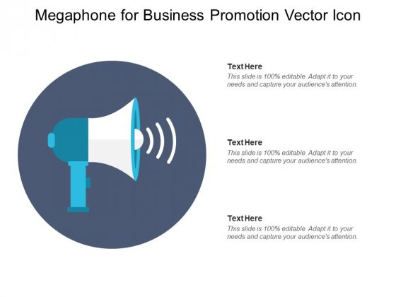 Megaphone For Business Promotion Vector Icon Ppt PowerPoint Presentation Professional Graphics PDF