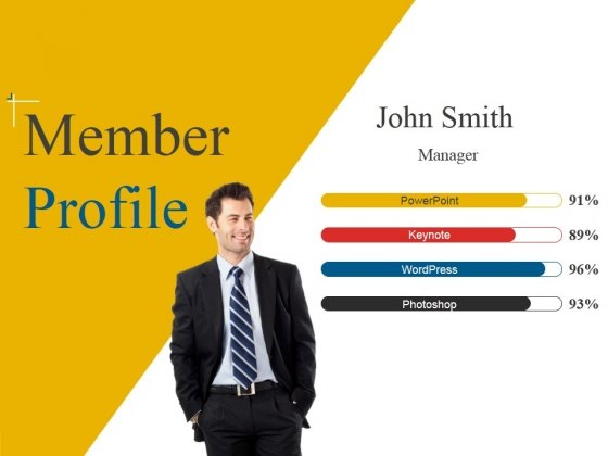 Member Profile Ppt PowerPoint Presentation File Inspiration