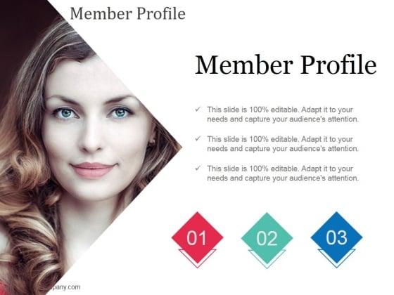 Member Profile Ppt Powerpoint Presentation Gallery Maker