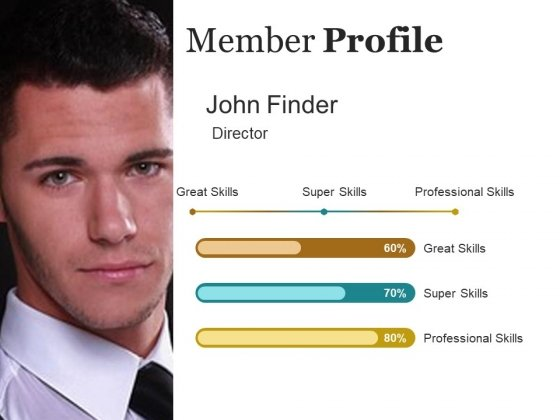 Member Profile Ppt PowerPoint Presentation Gallery Slide Portrait