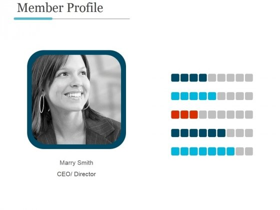 Member Profile Ppt PowerPoint Presentation Icon