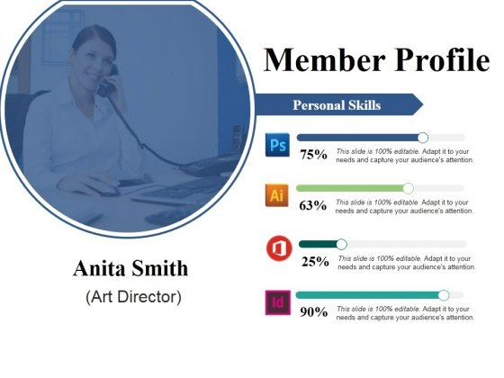 Member Profile Ppt PowerPoint Presentation Inspiration Vector