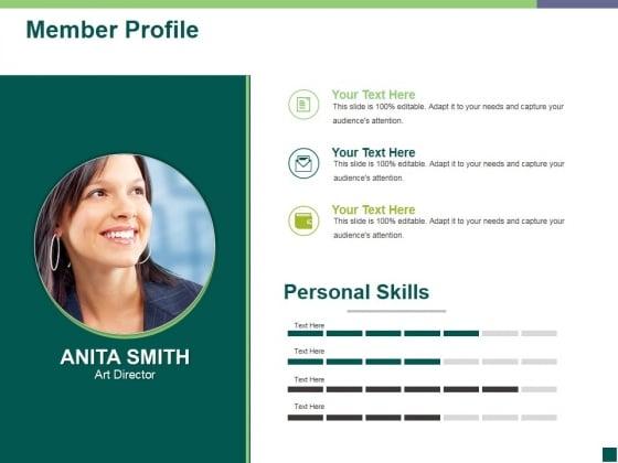 Member Profile Ppt PowerPoint Presentation Portfolio Visual Aids