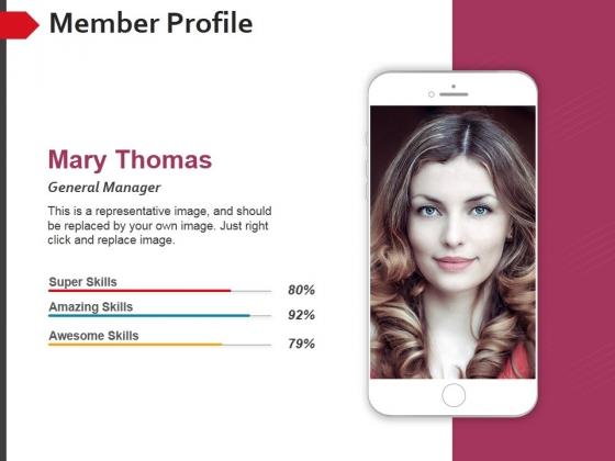 Member Profile Template 2 Ppt PowerPoint Presentation Show Graphics Design