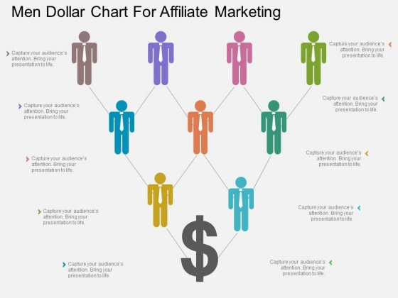 Men Dollar Chart For Affiliate Marketing Powerpoint Template